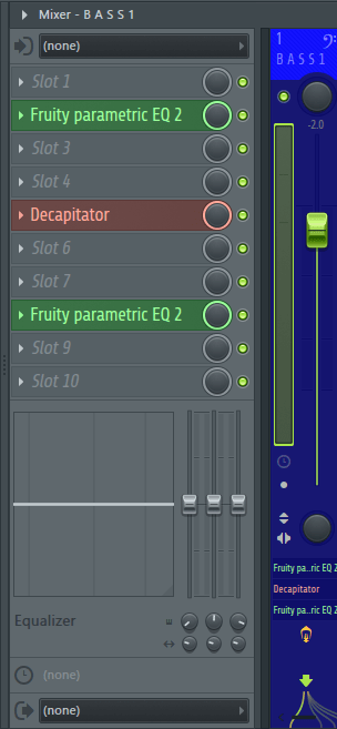 Mixer Track for Bake Sale Synth Bass