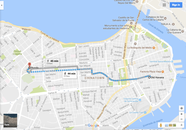 Havana walking map