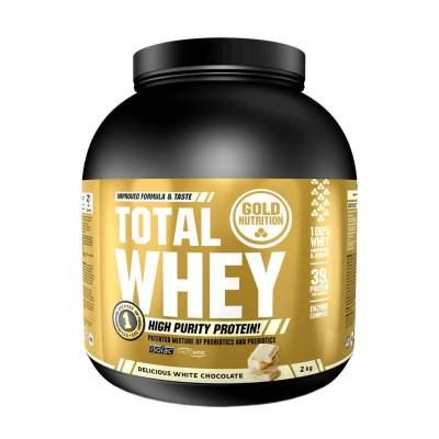 Suplemento Proteico Desportivo Total Whey - Sabor a Chocolate Branco | Supliment proteine sportive Aroma ciocolata alba