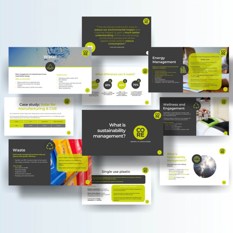 PowerPoint Presentation for a Sustainability Conference