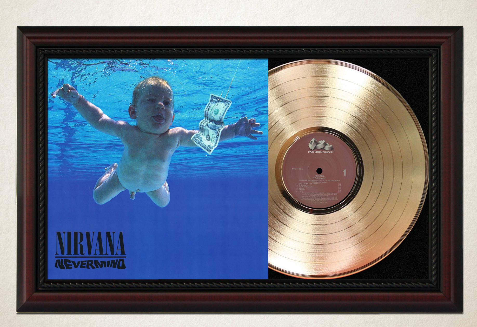 Sounds Of The Earth Record Framed Cherry Wood Display M4 Voyager One