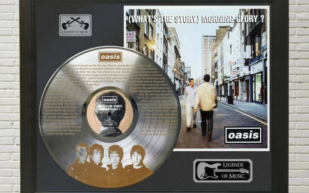 Oasis – Wonderwall Framed Legends Of Music Etched Platinum LP Record Display