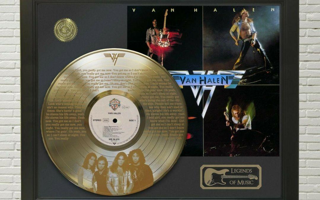 Van Halen – You Really Got Me Framed Legends Of Music Etched Gold LP Record Display