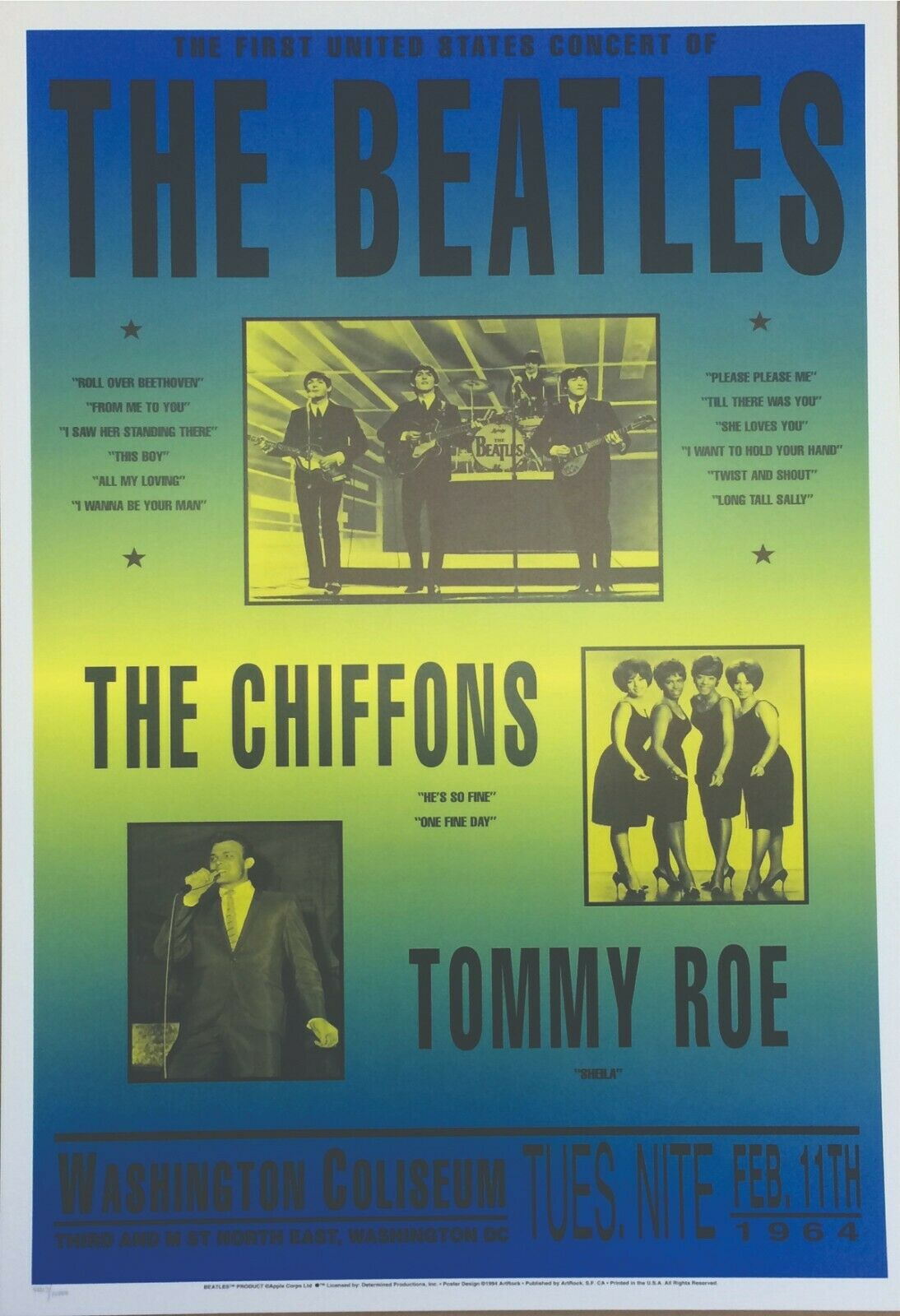 reprint photo The Beatles Music Concert Mini Poster 2 sizes to pick from