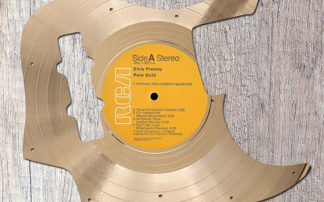 Elvis Presley Pure Gold Gold LP Fender Jazz Bass Guitar Pickguard