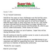 Super Valu Closing - Year of Clean Water