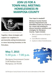 homelessness meeting hall town mariposa thursday county reduce