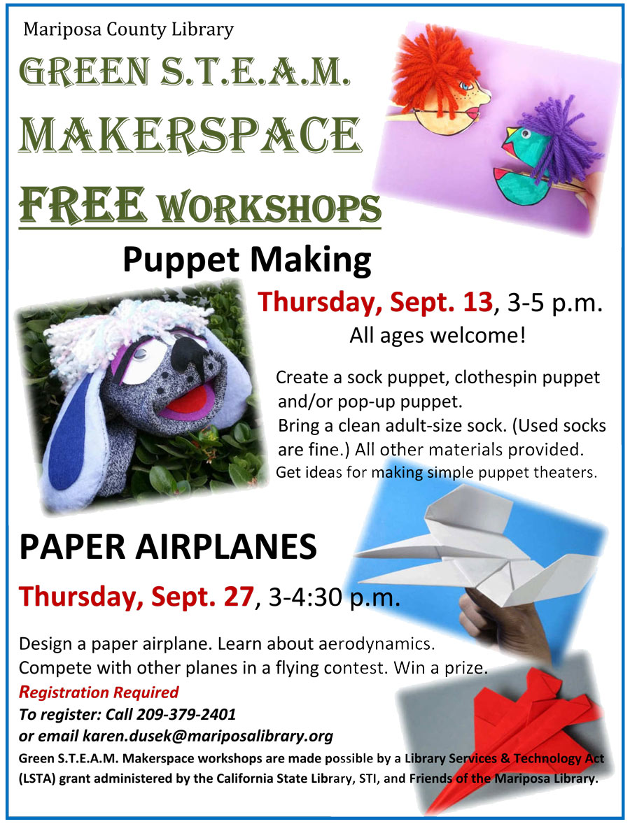 9 13 18 puppet and airplane wkshp