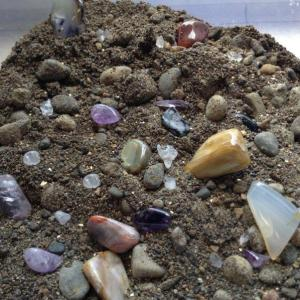 2.5 Pounds of GEMSTONE PAYDIRT, Screened, Real Gold Guarantee!  Free Ship!
