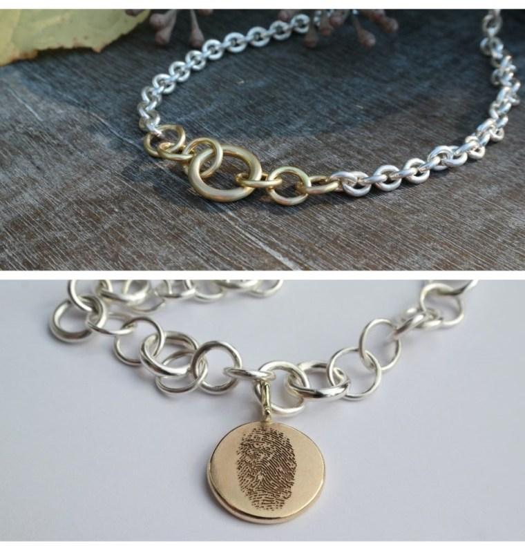 oesenkette-silber-gold-anhaenger-fingerabdruck