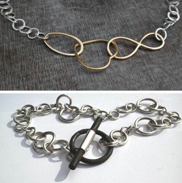 silberkette-gold-herz-undendlichkeitszeichen-eisenknebelverschluss-ebenholz