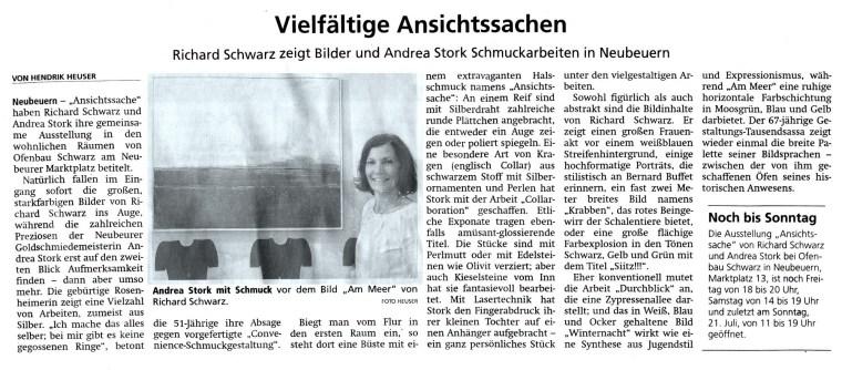 Zeitungsartikel-OVB-Ausstellung-Stork-Schwarz-2019