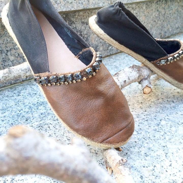 DIY Leather Espandrilles