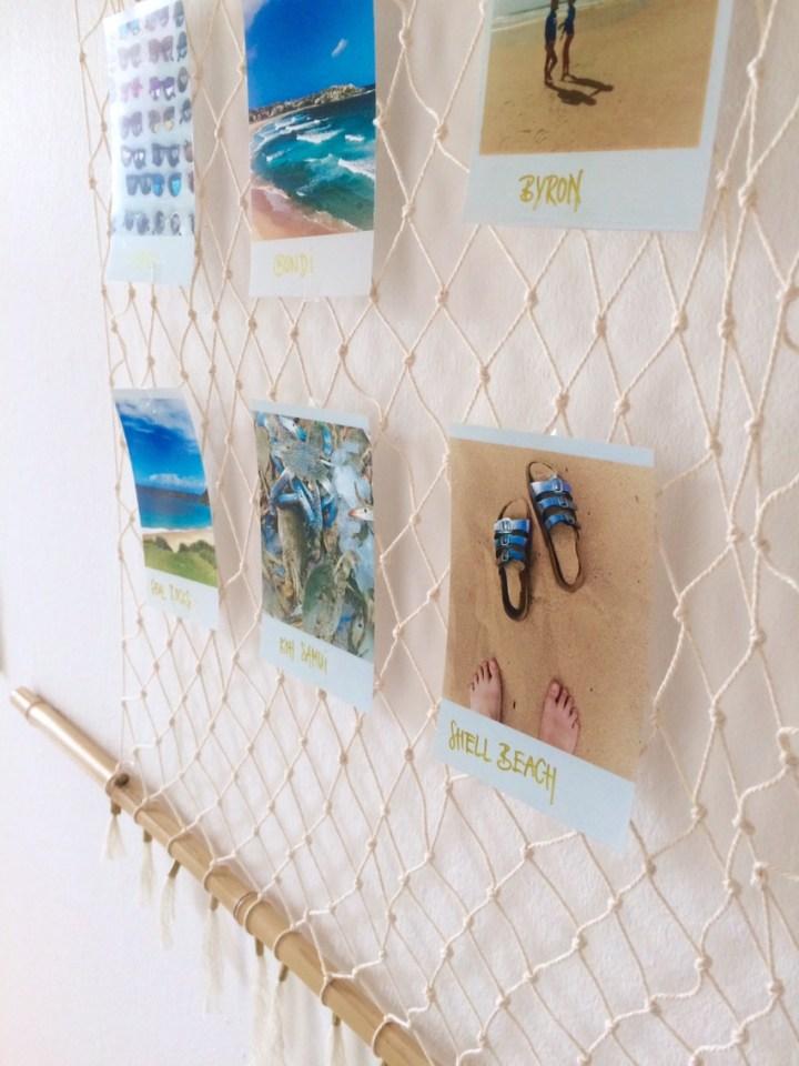 Fischernetz als Fotowall