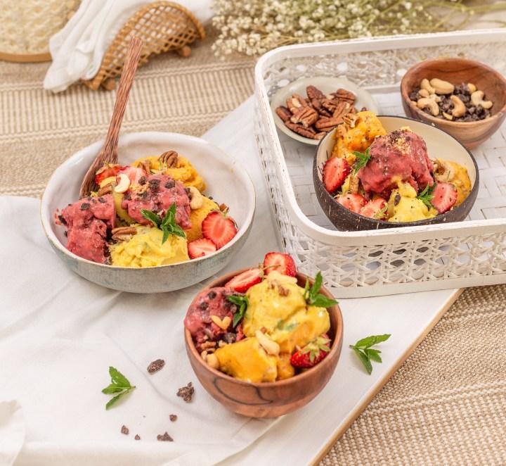Rezept für veganes Eis mit 4 Varianten