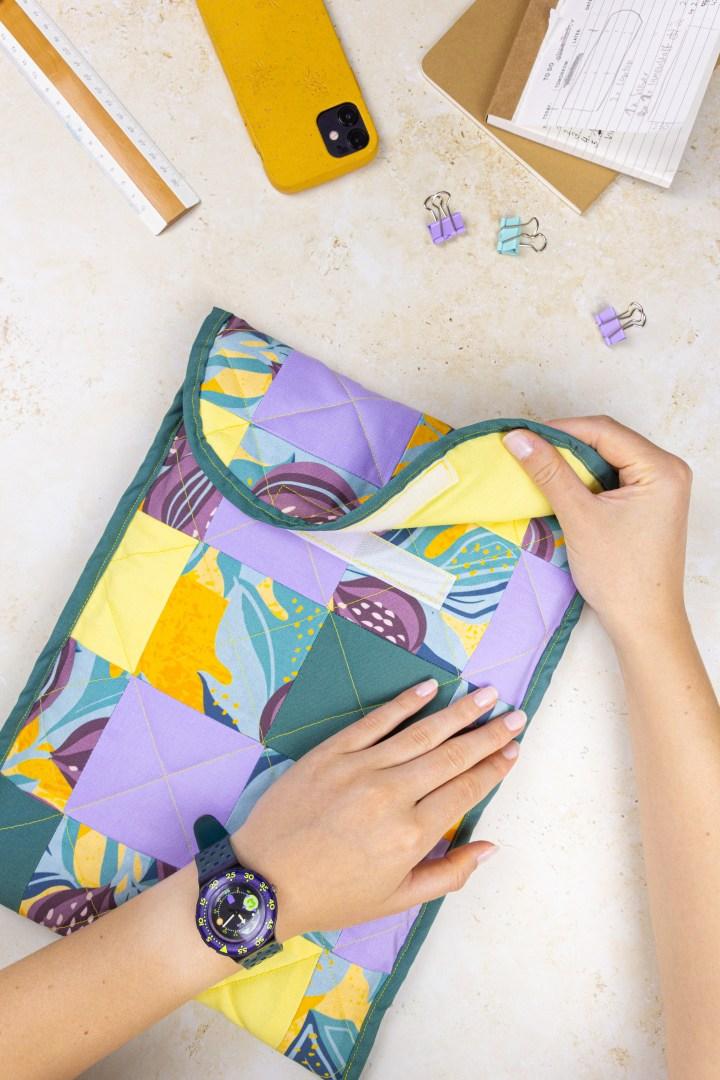 DIY Patchwork Laptop-Tasche nähen