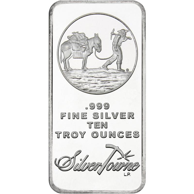 10 oz Prospector Silver Bar