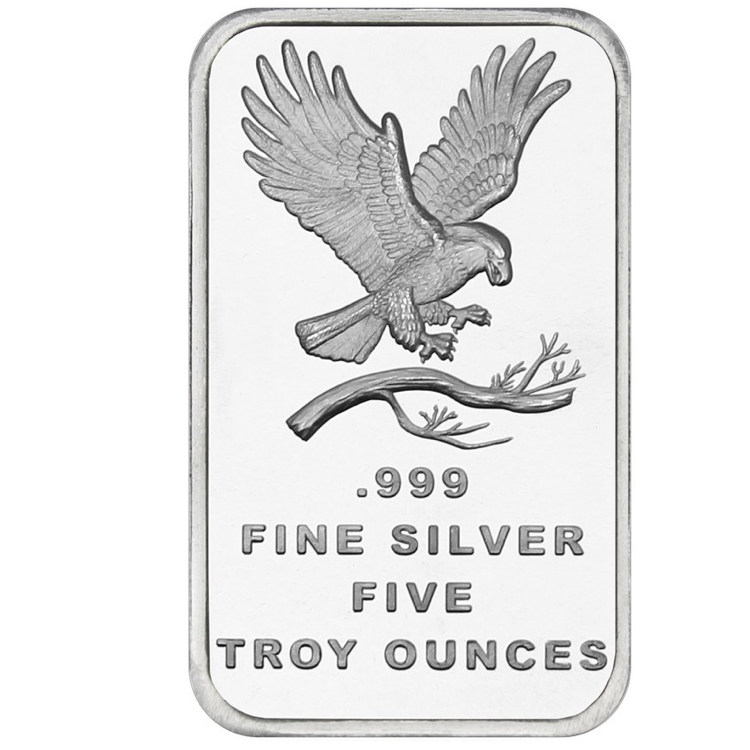 5 oz Eagle Silver Bar