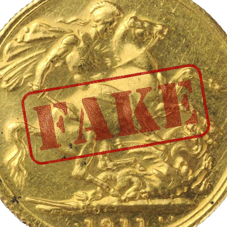Fake gold sovereigns and spotting the counterfeits