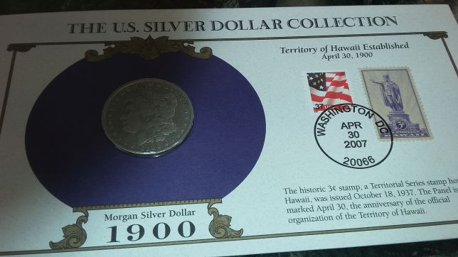 morgan-peace silver dollars 1900