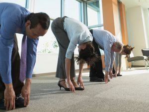 stretching in office