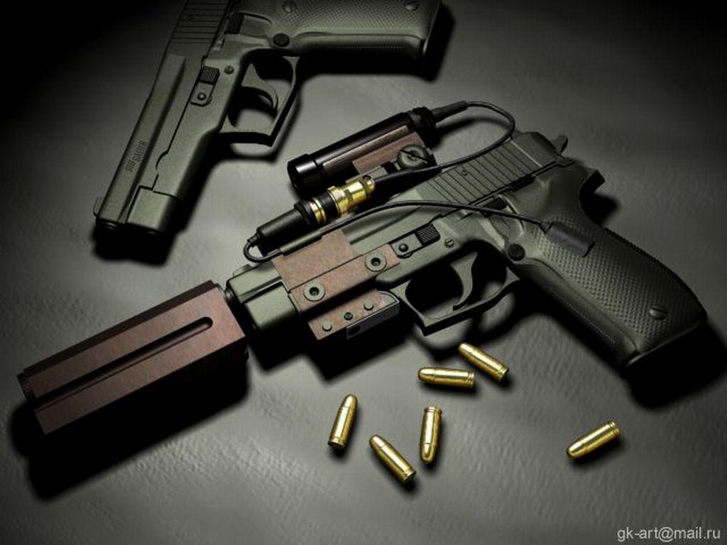 free fine black gun wallpaper