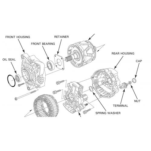 # 31114-MCA-003 Dynamo bearing GL1800 ( front bearing )