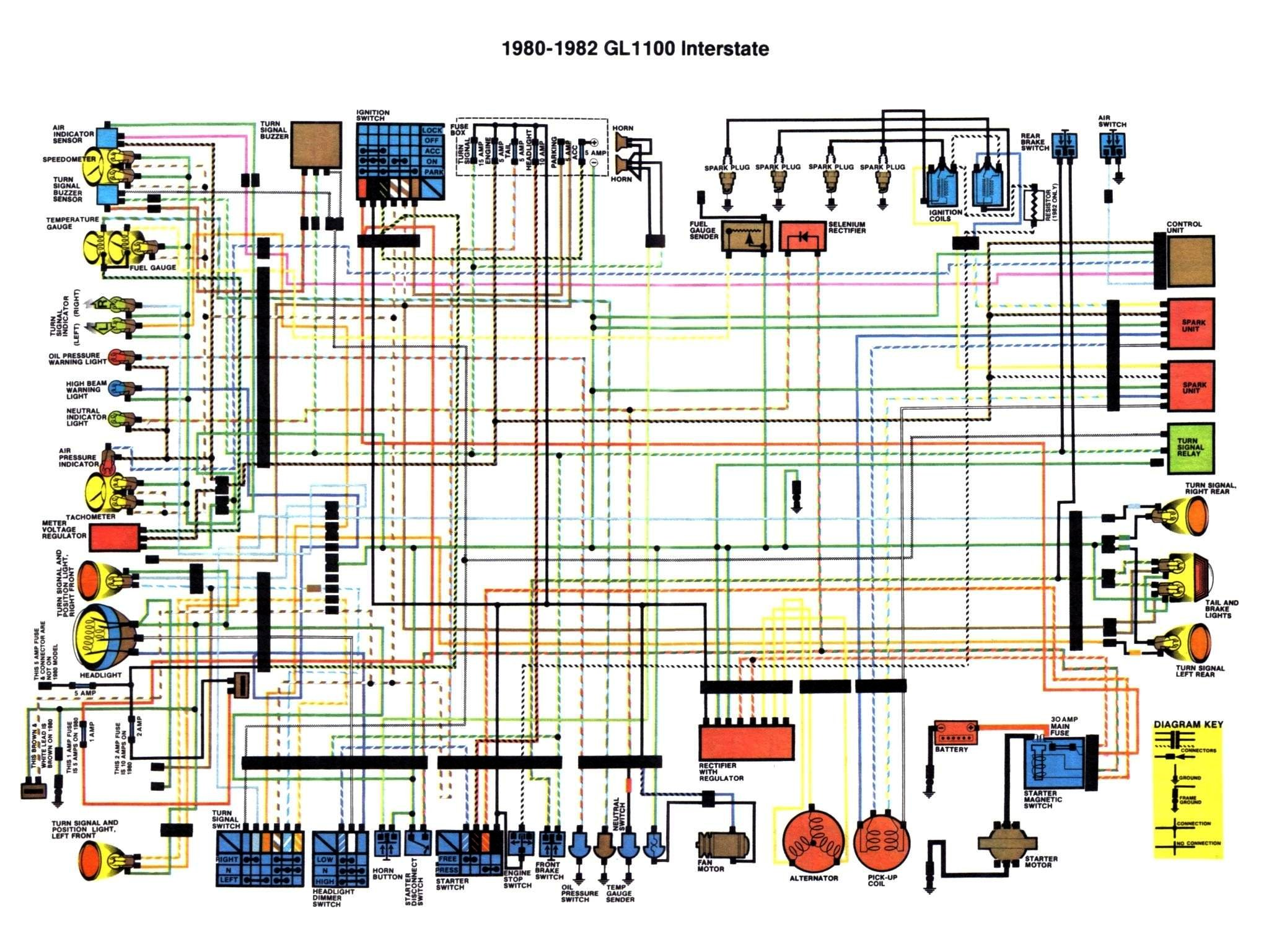 goldwing 1500 trailer wiring diagram ford falcon honda gl1100 aspencade