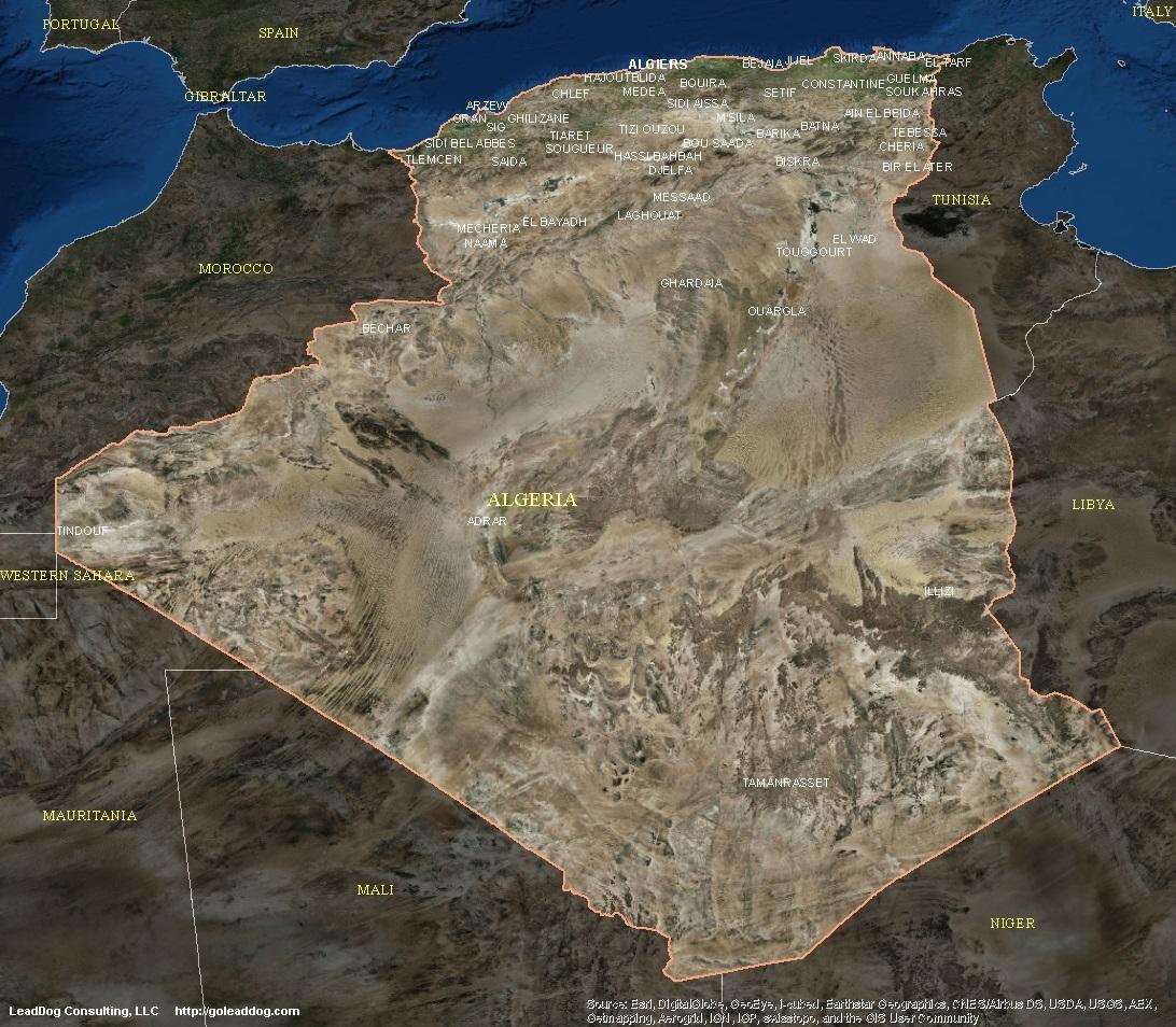 Algeria Satellite Maps LeadDog Consulting