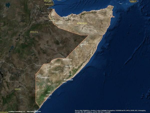 Somalia Satellite Map