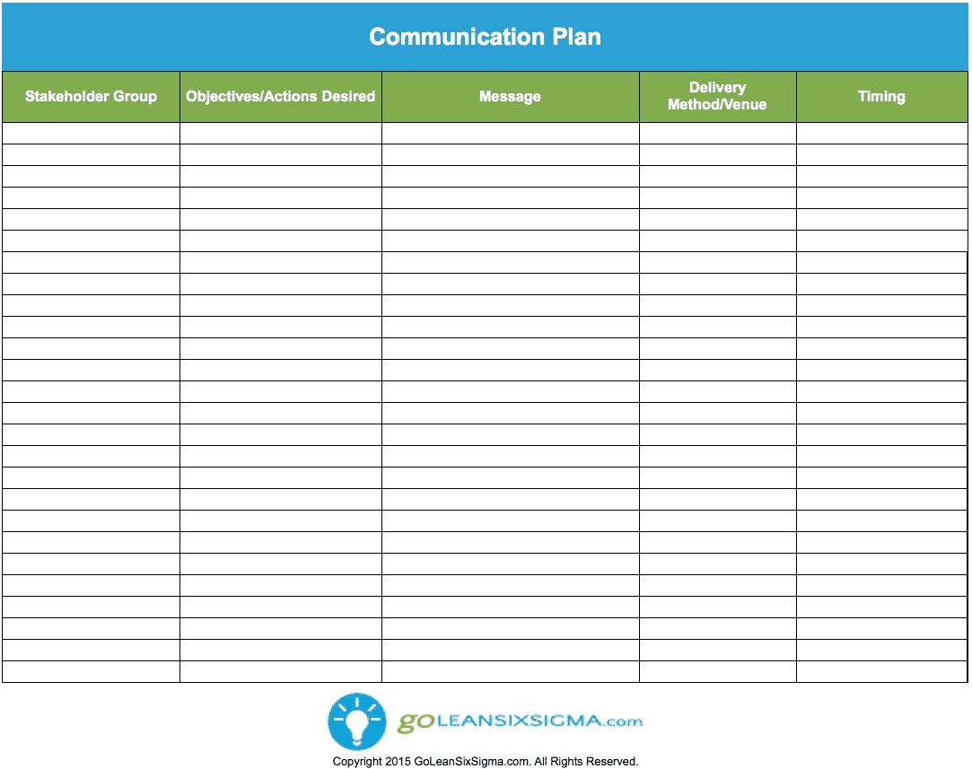 timing diagram excel 5 pin wiring communication plan - template & example
