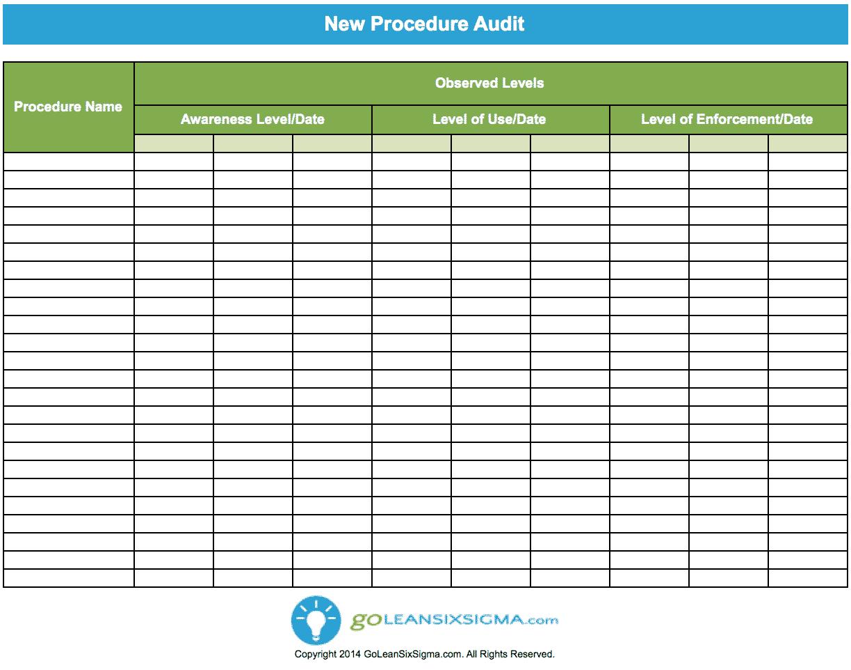 Audit Register Template