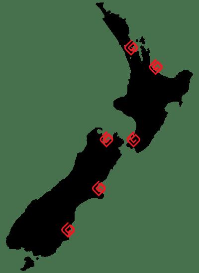 Goleman Locations Around New Zealand