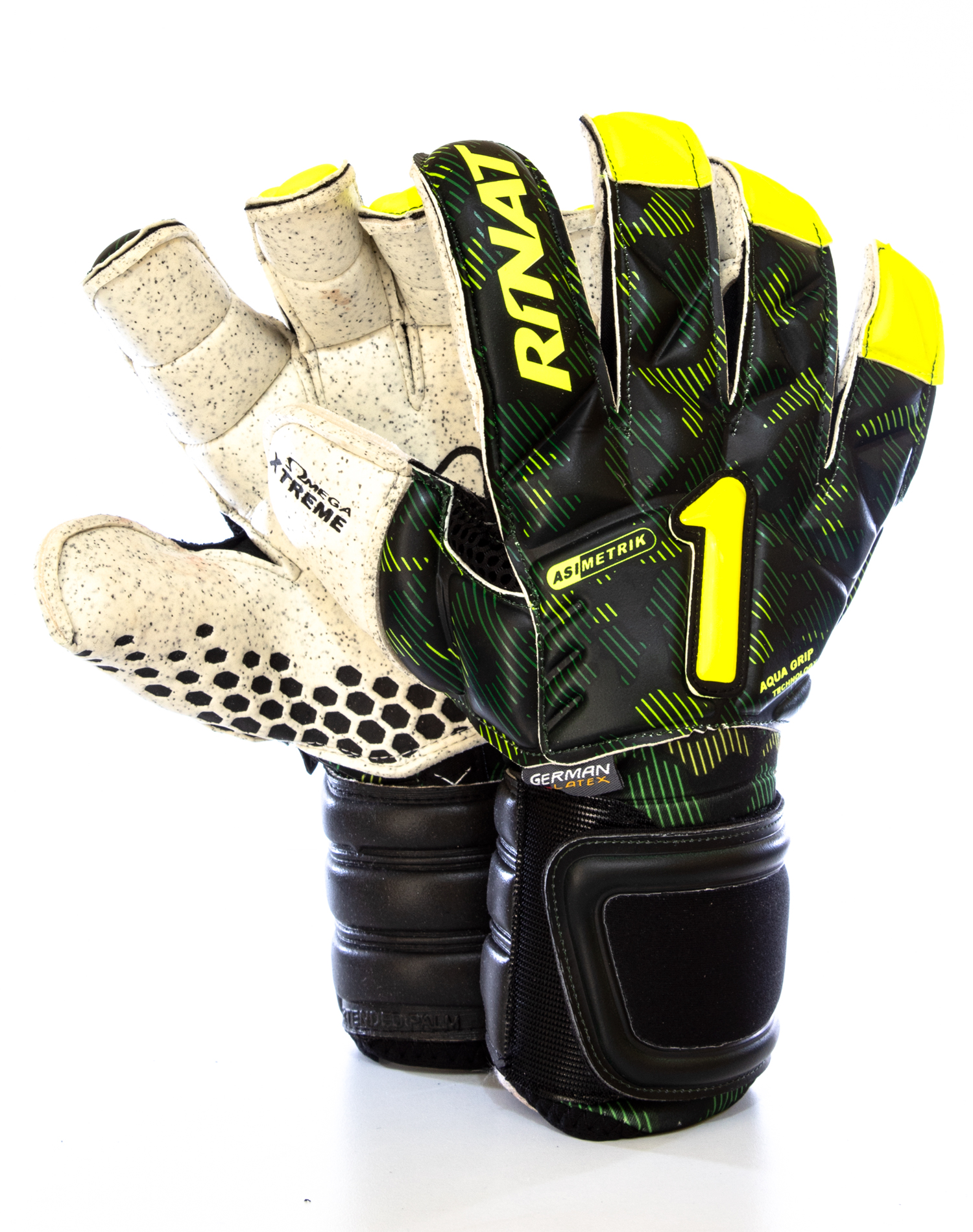 precio asombroso Códigos promocionales selección premium Guantes Rinat Asimetrik Hunter Pro Verde - Amarillo - Golero Sport