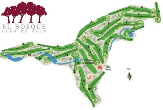 1CV El Bosque course map - Golf in VALENCIA