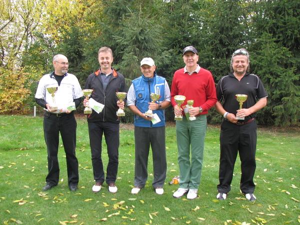 Triumfatorzy Olszewka Cup 2014: Adam Tokarz, Marek Chamera, Piotr Słojewski, Waldemar Badowski i Adam Pawlonka