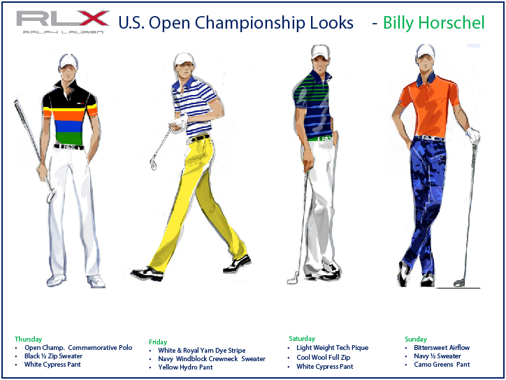 RLX Billy Horschel  US Open Championship Looks