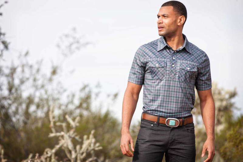 QED Style Kamas Polo & Handcrafted Belt (Image via QED Style)