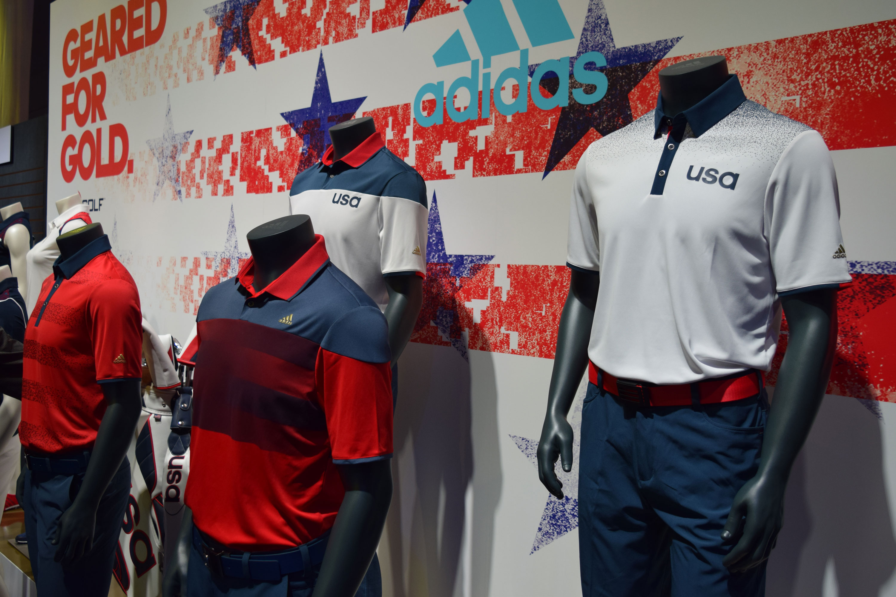 the latest a5047 f329d The U.S. Olympic Golf Team Goes for Gold in Uniforms by Adidas Golf    GolfThreads