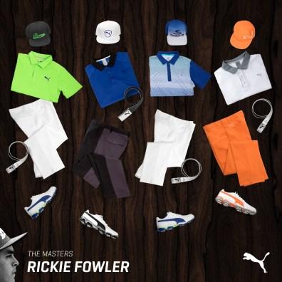 Rickie Fowler's 2016 Masters Apparel Script