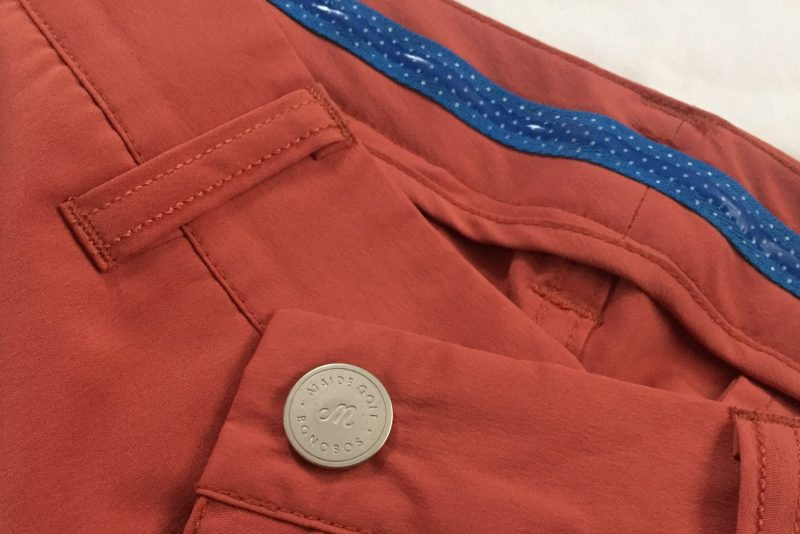 Grip insert at the waistband to keep your shirt tucked in.