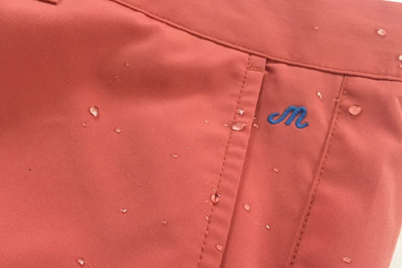 Water resistant fabric.