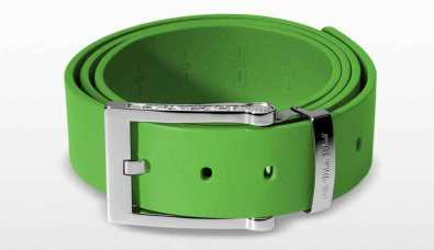 Leather Belt in lime green