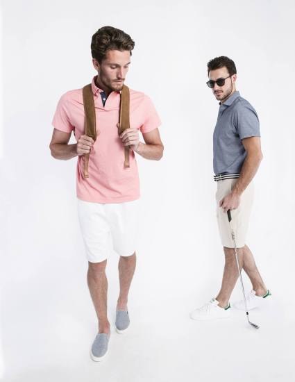 The Andrew Polo in Coral and Steel