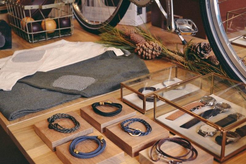 Handmade furniture and clean merchandising