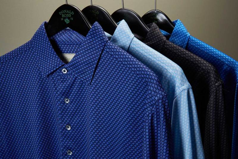 donald ross print polos