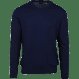 Luxury Blend V-Neck Sweater in Navy