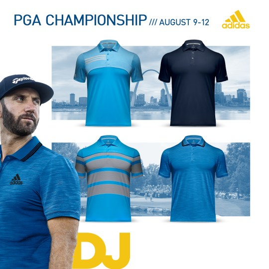 2018 PGA Championship Apparel Scripts Dustin Johnson