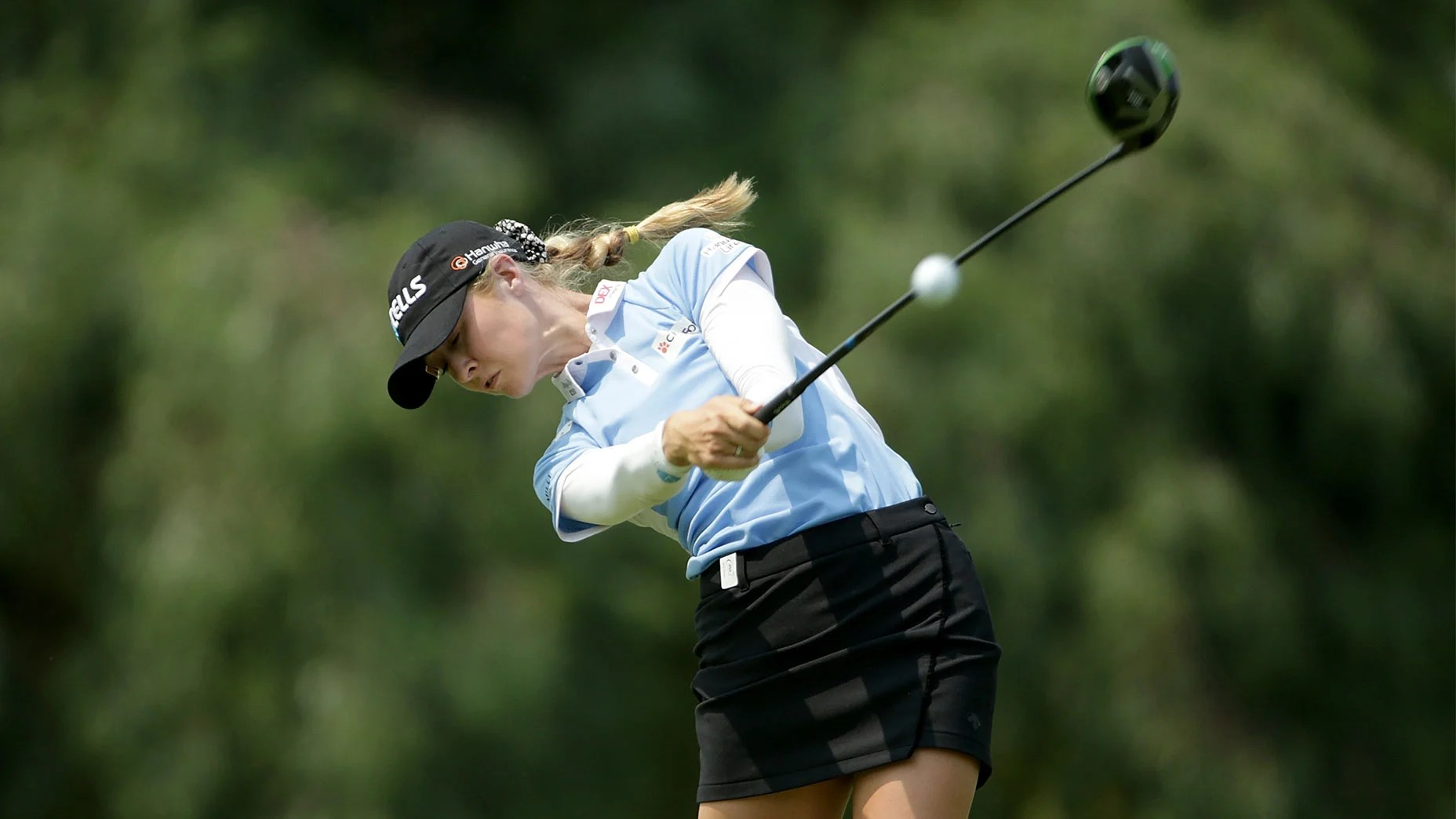 Nelly Korda hits a tee shot at the ANA.