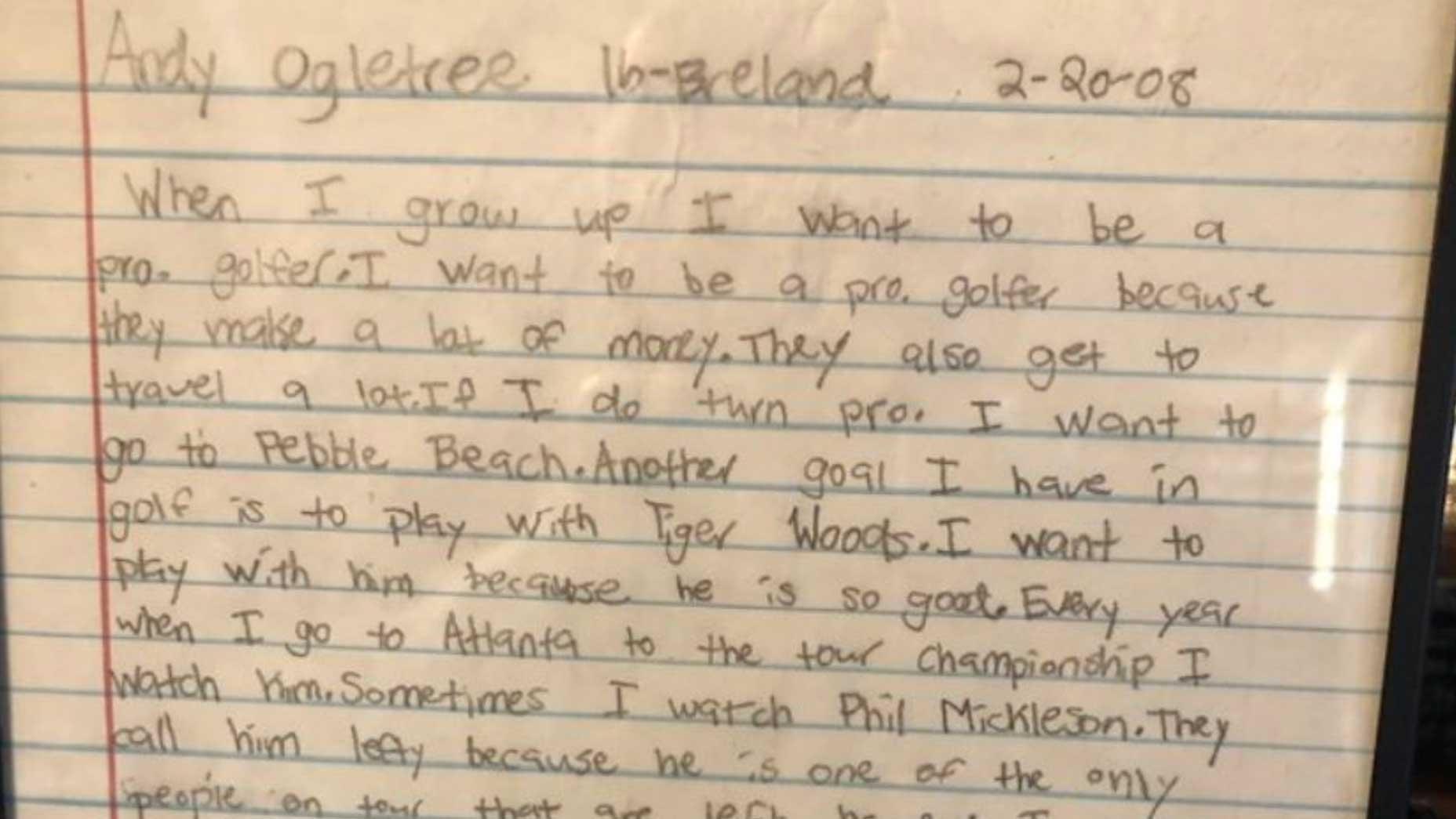 andy ogletree letter